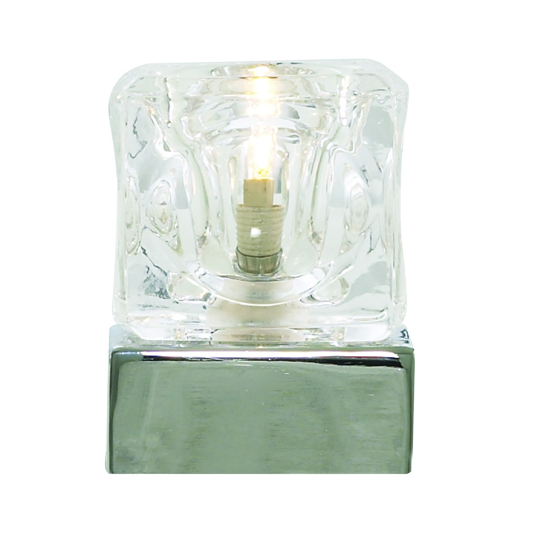 ice cube touch table lamp with clear glass shade 4471cc stanways. Black Bedroom Furniture Sets. Home Design Ideas