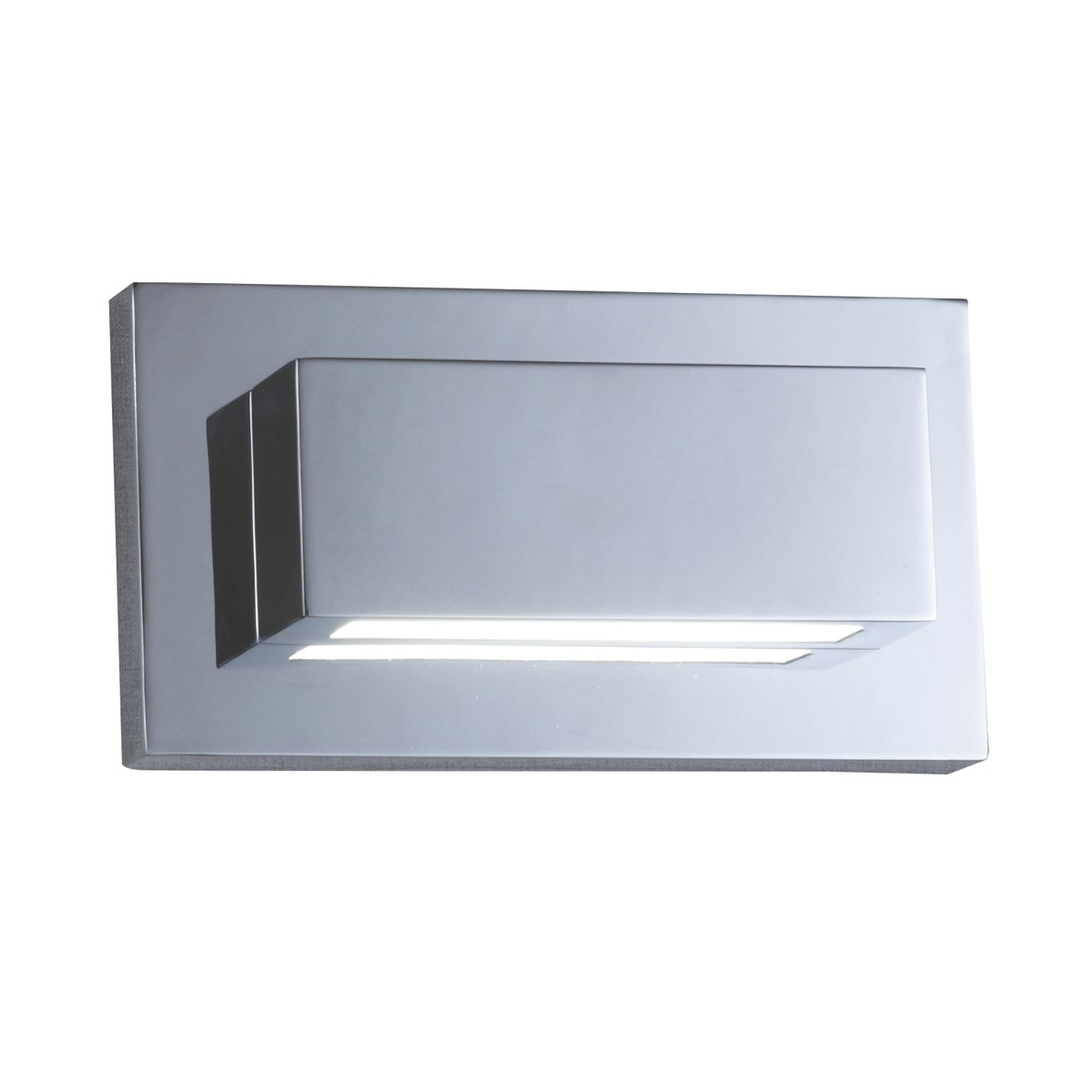 chrome 2 led oblong wall light with up down light 1752cc stanways stoves and lights. Black Bedroom Furniture Sets. Home Design Ideas