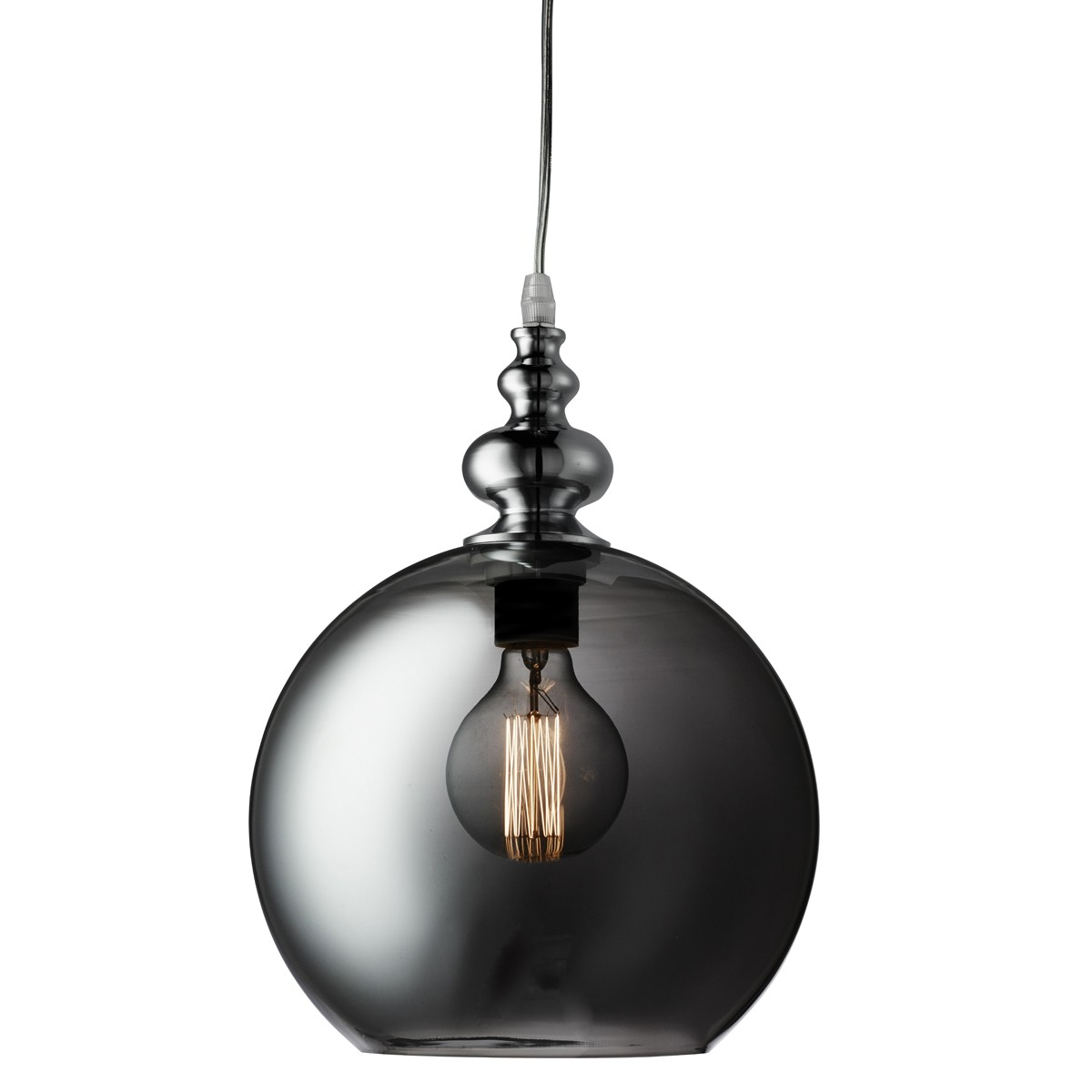indiana chrome globe pendant light with smokey glass glade u2013 2020sm stanways stoves and stoves and lights - Globe Pendant Light