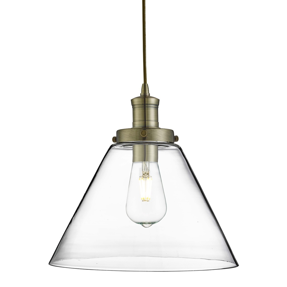 PYRAMID ANTIQUE BRASS PENDANT LIGHT WITH CLEAR GLASS SHADE u2013 3228AB  sc 1 st  Stanways Stoves and Lights & PYRAMID CHROME PENDANT LIGHT WITH CLEAR GLASS SHADE u2013 3228CC ... azcodes.com