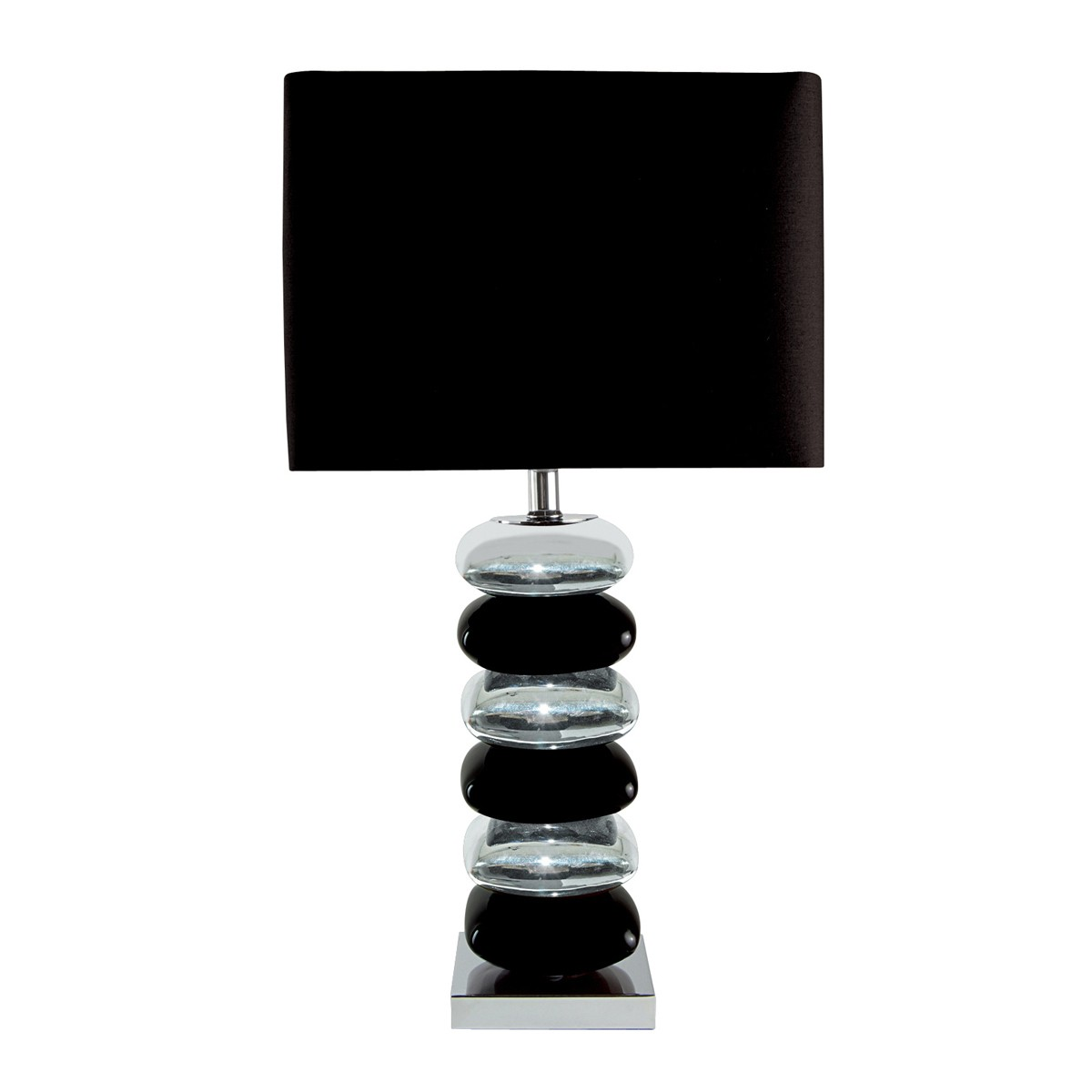 Modern table lamps product categories stanways stoves and lights black chrome pillow stack table lamp with black shade 4318cc 1 geotapseo Image collections