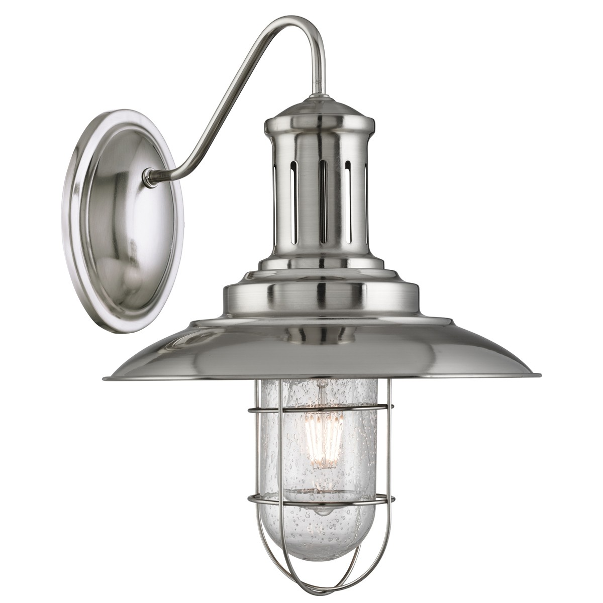 caged lighting. fisherman satin silver wall light with caged shade u2013 6503ss caged lighting