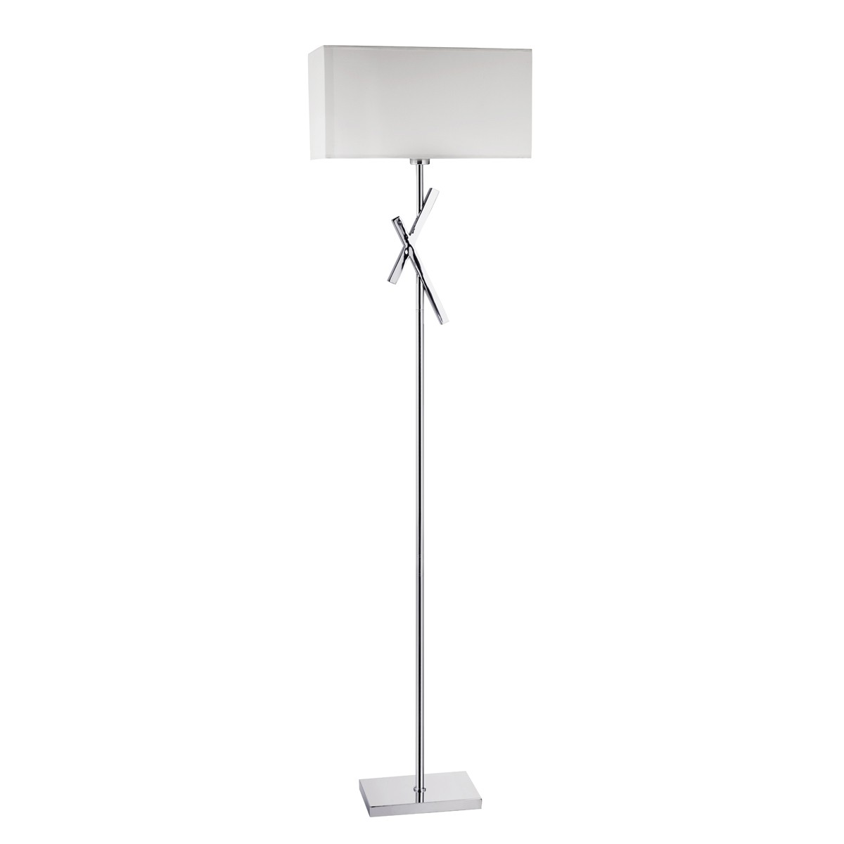 modern floor lamps  product categories  stanways stoves and  - acute chrome floor lamp with white rectangle shade – cc