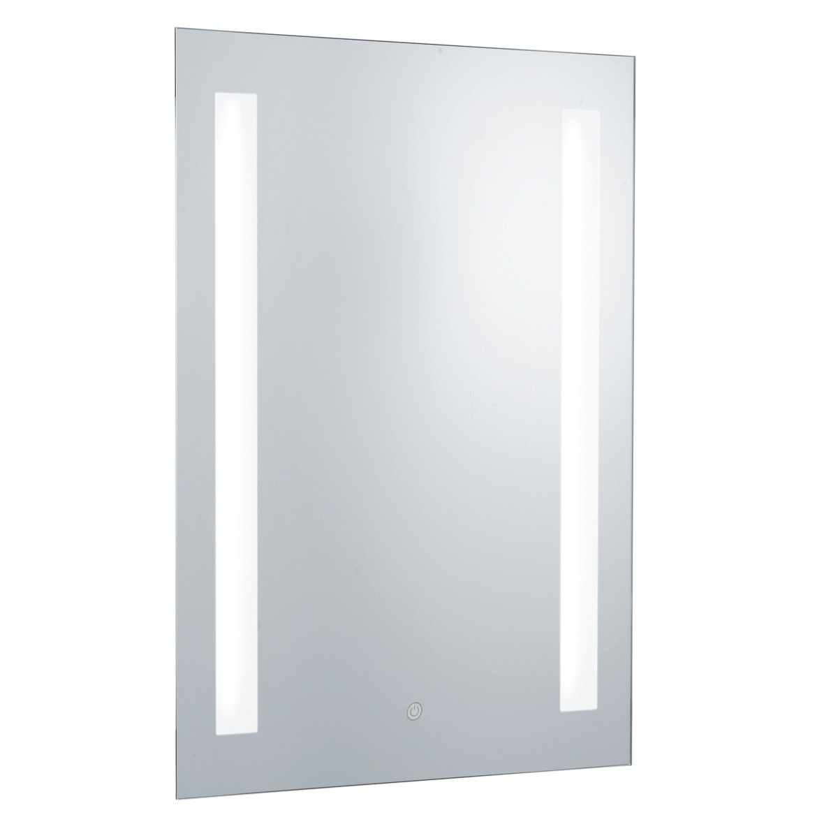 Ip44 Illuminated 2 Light Touch Bathroom Mirror With Shaver Socket 7450