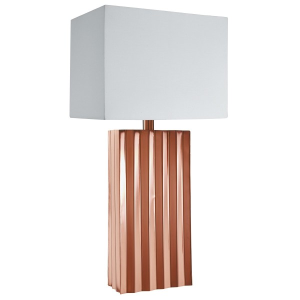 TROMBA RIDGED TABLE LAMP WITH DRUM SHADE 7935CU