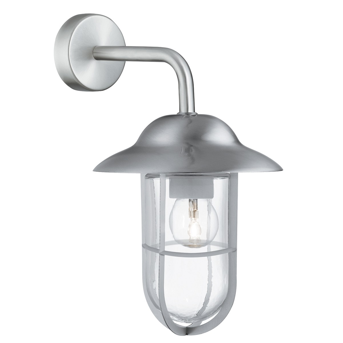 WELL GLASS IP44 STAINLESS STEEL OUTDOOR WALL LANTERN 3291SS