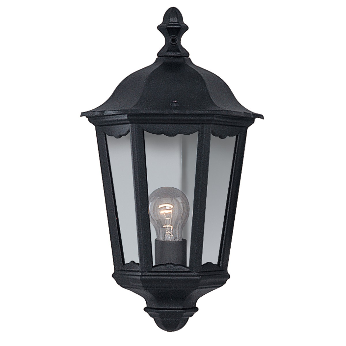 Black Outdoor Wall Lamps : ALEX IP44 BLACK OUTDOOR WALL LIGHT WITH CLEAR GLASS ? 82530BK Stanways Stoves and Lights