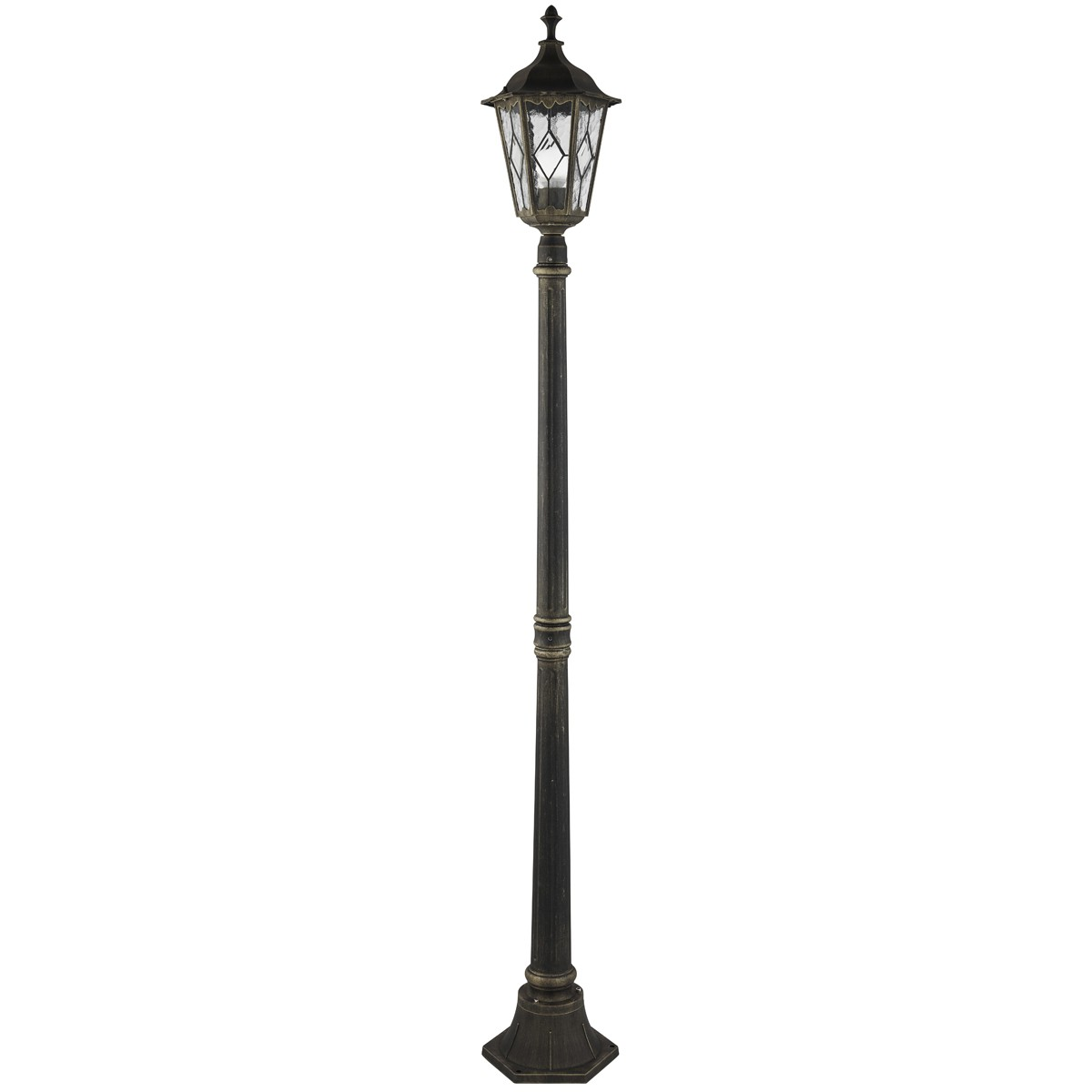 IMPERIAL BLACK GOLD IP44 OUTDOOR POST LAMP – 93609BG | Stanways ...