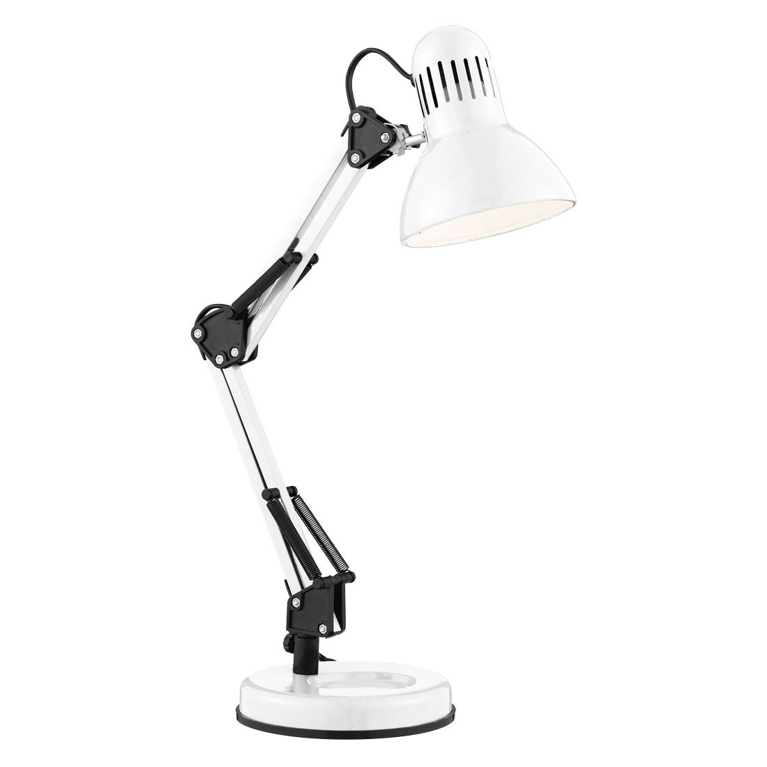 SHINY WHITE HOBBY TABLE LAMP - 2429wh